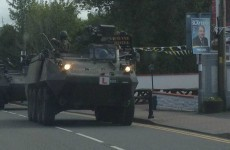 Even Irish army tanks need L plates, you know