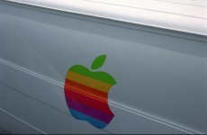 Apple's original multi-coloured logo boards will be up for auction