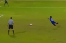 Player fakes trip on way to scoring outrageous penalty in shoot-out win