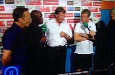 The best Glenn Hoddle imaginary microphone pic you'll see today