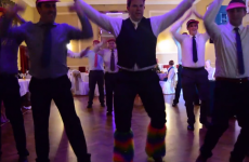 Irish groomsmen put on QUITE the show for ladies at wedding dinner