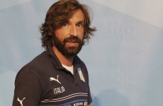 Pirlo: Italy 'always' perform against England