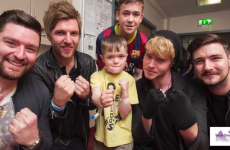 The Kodaline lads went around singing to the kids at Temple Street Hospital