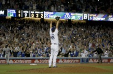 This wild throw spoiled Clayton Kershaw's perfect game last night