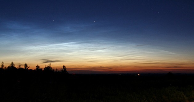 You can spot rare glowing clouds formed by meteors over Ireland