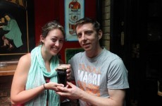 Man uses pint of Guinness to propose in Dublin