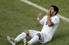 'Chiellini bumped into me with his shoulder', says Suarez as he complains of eye injury