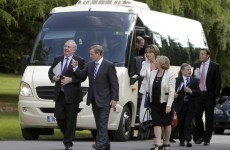"""""""Stop the bus, I wanna go…"""": Ministers head for key meetings on the austerity coach"""