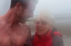 Son pretends to swim home from Australia to surprise his mammy