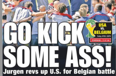 Obviously, the US are psyched all the way up for their last 16 clash with Belgium