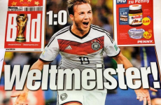 Here's how the German media reacted to their side's World Cup triumph