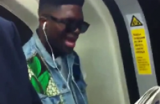 Commuters can't stifle laughter as guy belts out Rihanna song on packed train