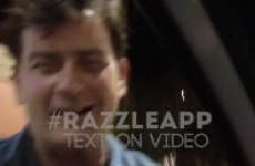 Drunk Charlie Sheen greets fans at drive-through