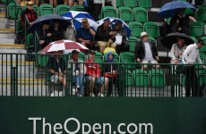 The weather could be Rory McIlroy's best friend at the Open today
