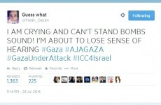 """You must listen"": Gaza teen tweets sound of bombs exploding"
