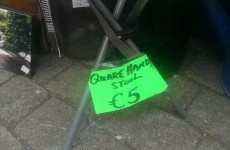 The only way to sell a stool in Ireland