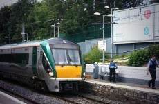 A woman has died after falling onto the track at Raheny station