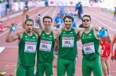 Ireland men's relay team reach 4x400m relay final at Euros, break national record