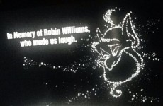 Disney added this sweet Robin Williams tribute to the end of Aladdin
