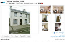 This three-bedroom semi in Cork is marked for sale at €42 million
