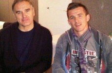 This charming man? Joey Barton really did meet Morrissey at Glasto last night
