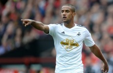 Video: Wayne Routledge scored a cracking karate kick volley for Swansea