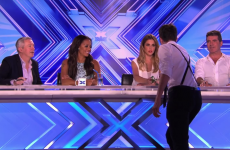 This Kerry lad put the moves on Cheryl Cole big style, on X Factor