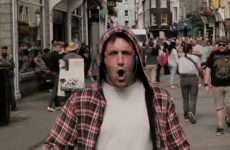Guy walks through Galway singing death metal to bemused shoppers