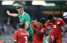 Kevin Doyle puts Ireland 1-0 up against Oman