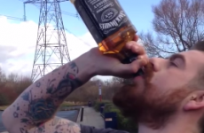 Idiot drinks entire bottle of whiskey in 15 seconds in potentially fatal stunt