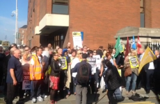 Striking Greyhound workers face off with picket crossers as High Court hearing adjourned