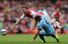 Arsenal denied by late Demichelis header