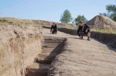 Danish archaeologists uncover ringed Viking fortress for first time in 60 years