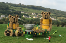 There's a giant 'Teddy Bears Picnic' supporting Donegal by Michael Murphy's home