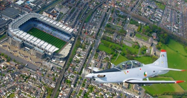Flying high… here's Croke Park before today's All-Ireland excitement