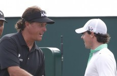 Rory and Lefty to go head-to-head on the first morning of the Ryder Cup