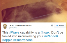 LAPD are actually warning iPhone users not to microwave their phone