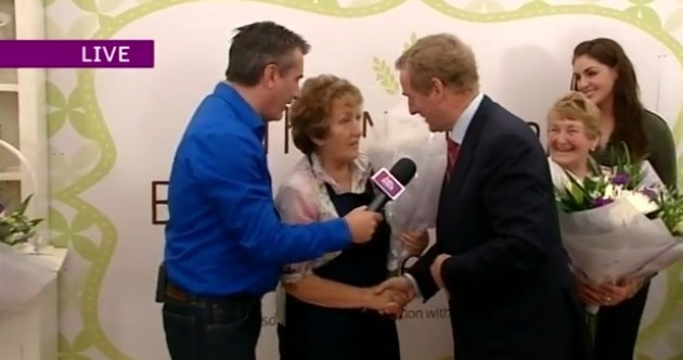 Enda's only at the Ploughing for this woman's brown bread