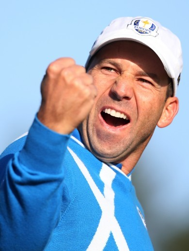 Sergio Garcia worked his magic for the first great shot of Ryder Cup 2014