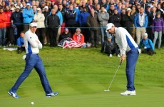 Poulter, McIlroy maintain European lead after US fightback