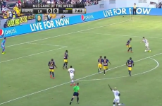 Robbie Keane chipped in with a ridiculous lob for the LA Galaxy last night