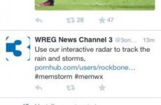Local news station accidentally tweets link to porn instead of weather forecast
