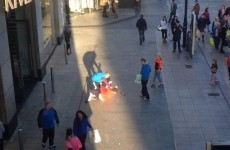 Video: Man attacked on main Dublin street with shoppers, tourists and children all around