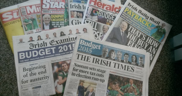 "Payback, buying an election and ""Be Happy"" – how the papers saw Budget 2015"