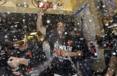 The Giants are going to the World Series – so one of their players chugged six beers to celebrate