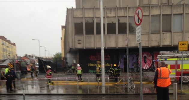 Fire extinguished at old motor tax office in Dublin but fears for squatters