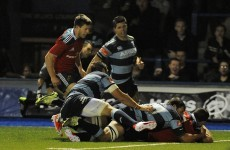 Paddy Butler grabs late try to ensure a Munster comeback win in Cardiff