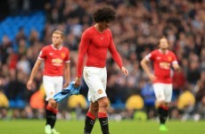 Van Gaal defends Fellaini over spitting claim