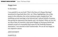 Very enjoyable clarification letter to the New York Times