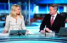 Sharon Ní Bheoláin caught rapid 'threatening'* her co-presenter in RTÉ blooper